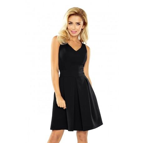 Elegantní dámské šaty bez rukávu černé, Velikost XL, Barva Černá NUMOCO 160-1