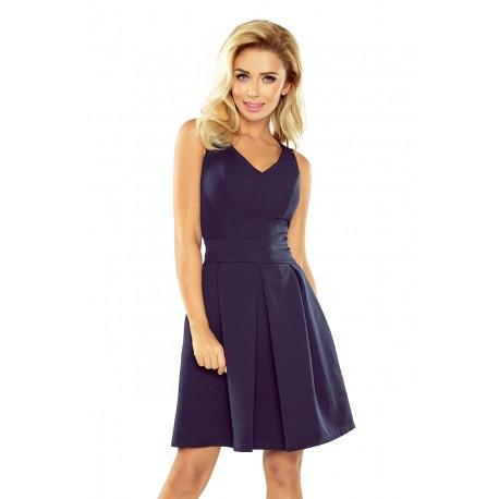 Elegantní dámské šaty bez rukávu tmavě modré