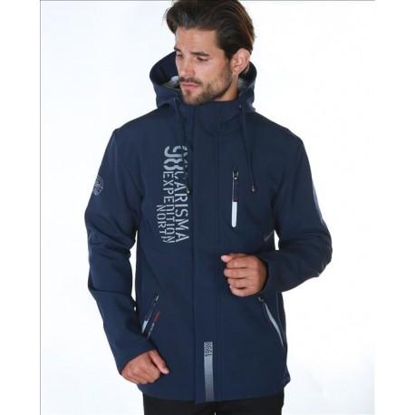 Pánská softshellová bunda tmavě modrá