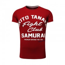 Pánská tričko Akito Tanaka FIGHT CLUB vínové