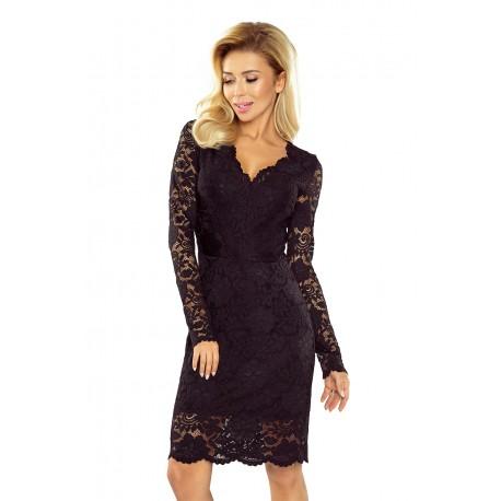 Luxusní dámské krajkové šaty Olivia černé - Alltex-fashion.cz 6acf994182