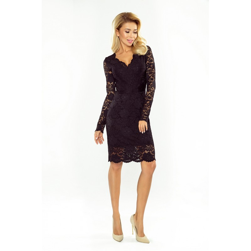 Luxusní dámské krajkové šaty Olivia černé - Alltex-fashion.cz e65f04c51b