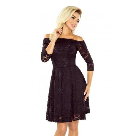 51c3e432138 Krajkové šaty Sally s 3 4 rukávem černé - Alltex-fashion.cz