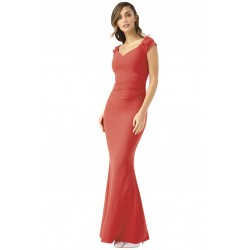 Společenské a plesové šaty Francesca červené