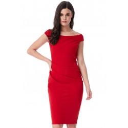 Dámské pouzdrové šaty Robyn červené