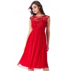 Krásné plesové a společenské šaty Molly červené