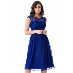 Krásné plesové a společenské šaty Molly královské modré