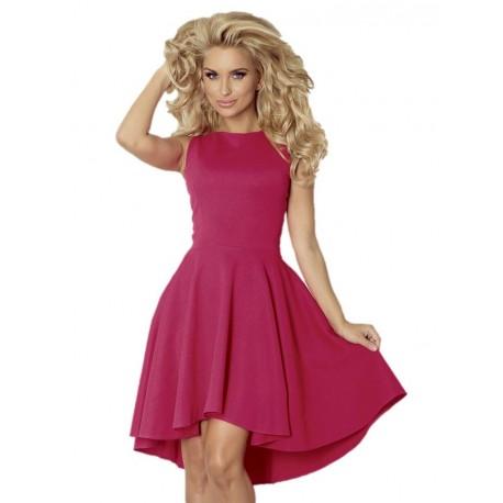 Luxusní dámské společenské a plesové šaty bez rukávu tmavě malinové
