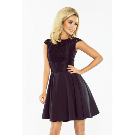 5b3aaedccce Dámské šaty s krajkou Ellie černé