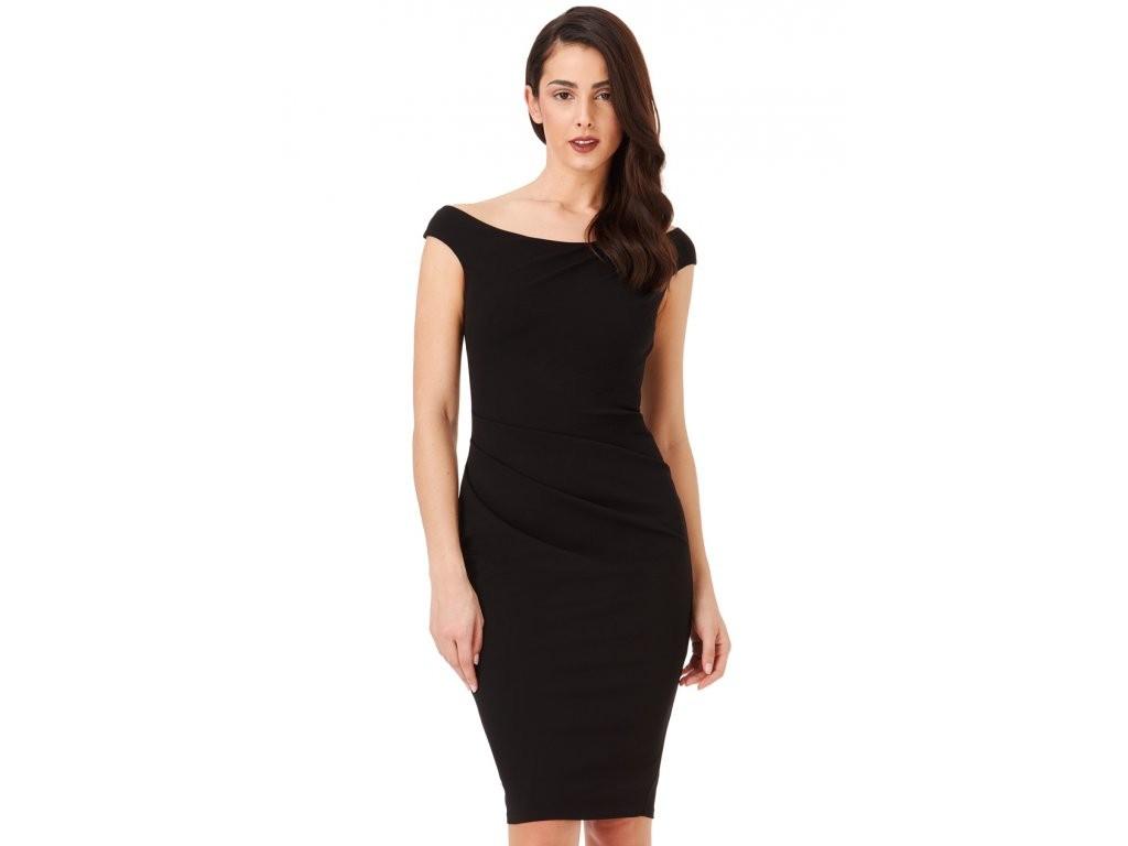 cebe76748c28 Dámské pouzdrové šaty Robyn černé - Alltex-fashion.cz