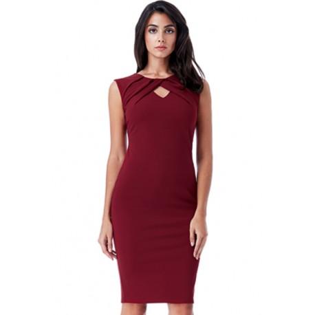 Dámské pouzdrové šaty Naomi vínové