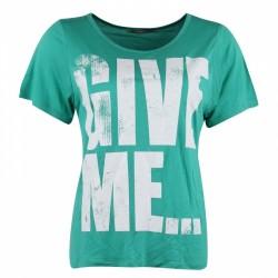 Dámské módní trendy tričko Give Me zelené