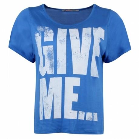 Dámské módní trendy tričko Give Me modré