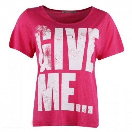 Dámské módní trendy tričko Give Me růžové