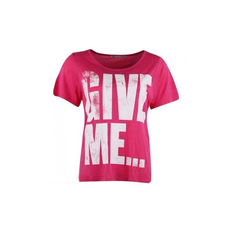 cc9c23e44368 Dámské módní trendy tričko Give Me růžové - Alltex-fashion.cz