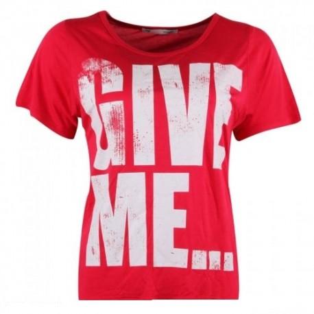 Dámské módní trendy tričko Give Me červené