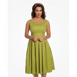 Dámské retro šaty Felicia Olive Green