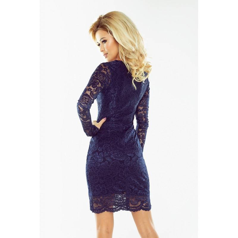 Luxusní dámské krajkové šaty Olivia tmavě modré - Alltex-fashion.cz c1aaada205