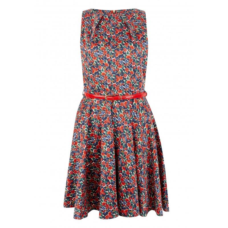 2ff68bc9adcc Dámské květinové šaty s červeným páskem Closet - Alltex-fashion.cz