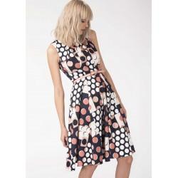 Dámské vzorované šaty circles Closet