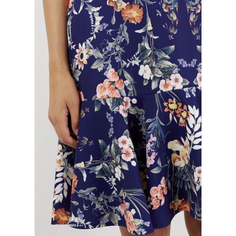 Dámské modré šaty s květy Closet London - Alltex-fashion.cz d3e795e568f