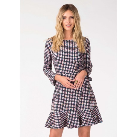 Dámské šaty se vzorem a 3/4 rukávem Closet