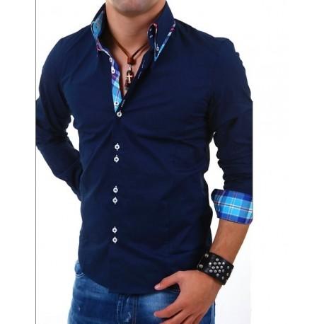 Elegantní pánská košile Carisma tmavě modrá - Alltex-fashion.cz 7bc2689167