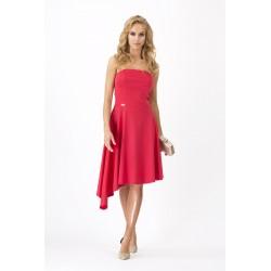Dámské společenské šaty asymetrické červené