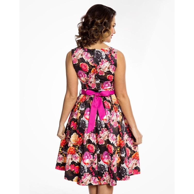 Dámské šaty Lindy Bop Audrey Vibrant Floral - Alltex-fashion.cz 3d3ed4e78a