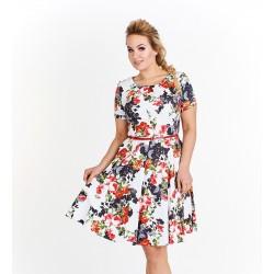 Dámské květované šaty Georgina bílé