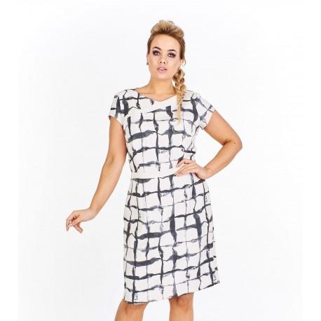 Dámské elegantní šaty Helen vzorovené