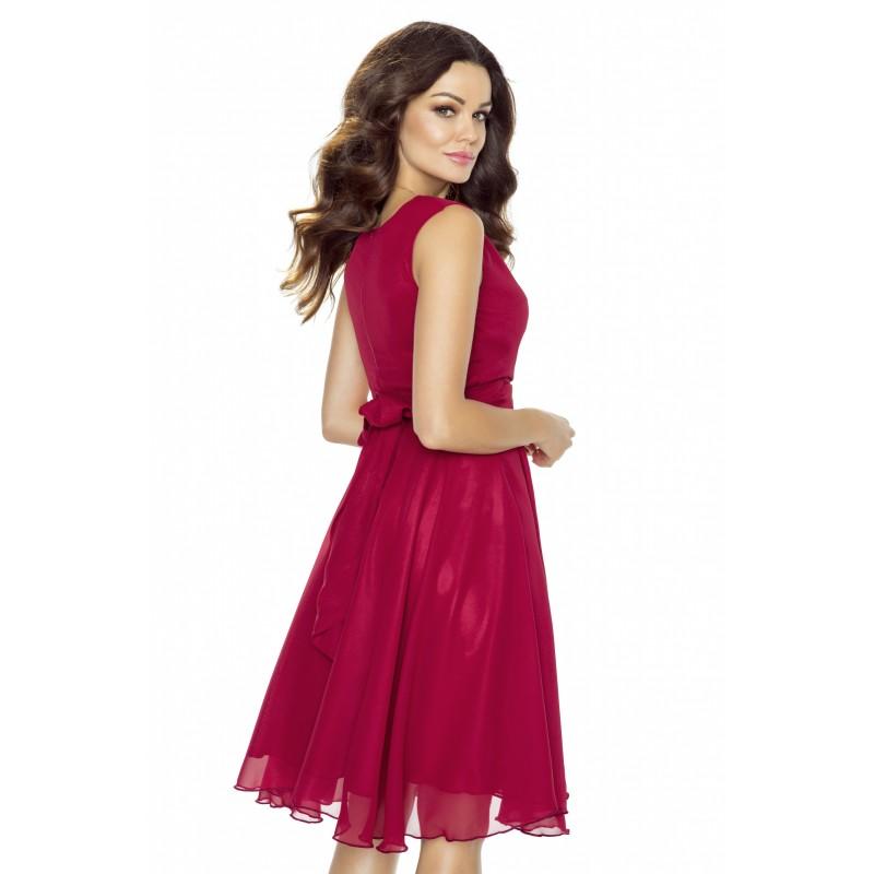 12667adc60ee Dámské šifonové šaty v barvě vínové - Alltex-fashion.cz