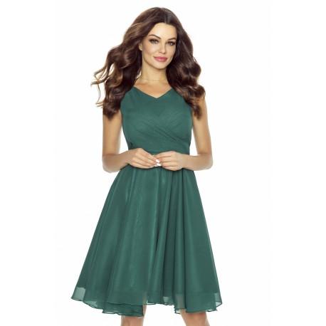 Dámské šifonové šaty v barvě zelené