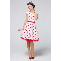 Dámské šaty s puntíky PAULETTE