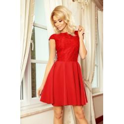 Šaty s krajkou Ellie červené