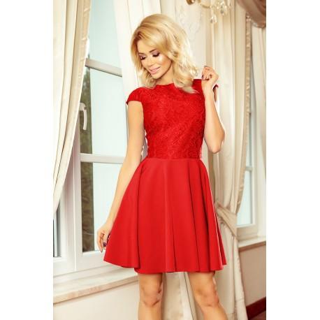 Šaty s krajkou Ellie světle červené