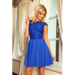 Šaty s krajkou Ellie modré