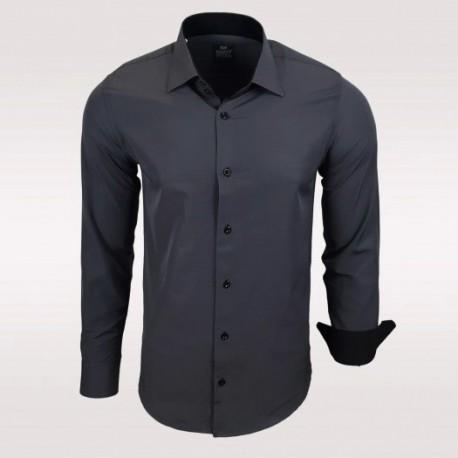 Pánská košile Rusty Neal tmavě šedá