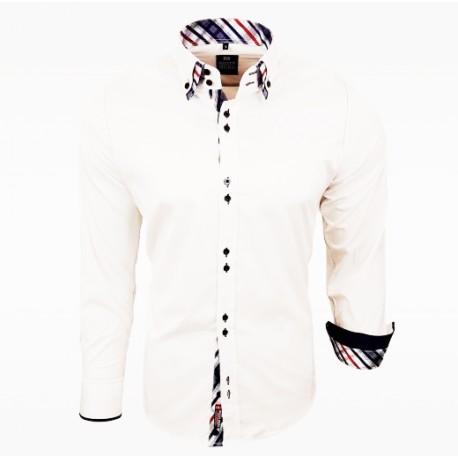 Pánská košile Rusty Neal Regular fit bílá - Alltex-fashion.cz 425f01ab22