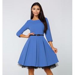Šaty Arianna s 3/4 rukávem modré