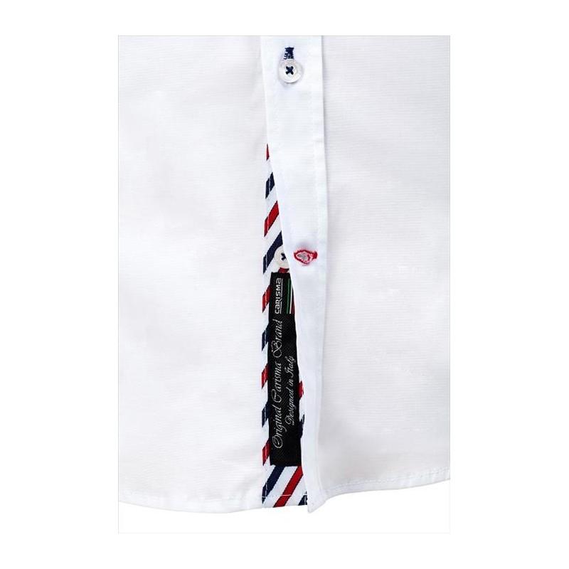 Pánská košile zdobená výšivkami a nápisy - Alltex-fashion.cz 70fe0d3572