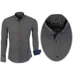 Pánská vzorovaná košile tmavě modrá