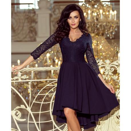 Luxusní dámské šaty Elegance navy