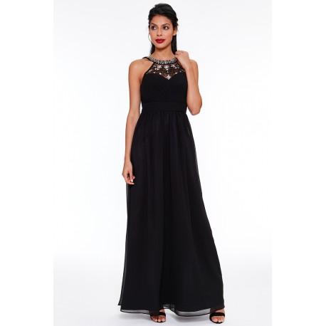a839654f7e2 Dámské dlouhé šaty Sara černé - Alltex-fashion.cz