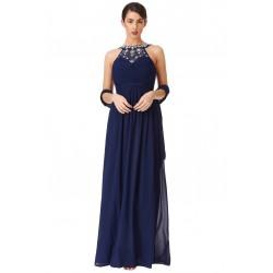 Dámské dlouhé šaty Sara modré