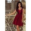 Dámské elegantní šaty vínové Romantic