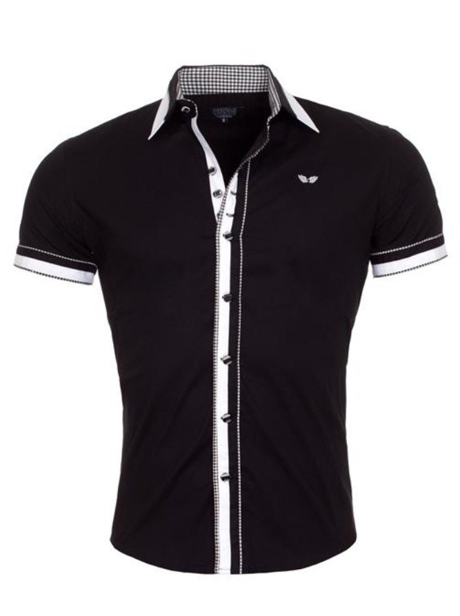 Pánská košile CRSM černá s bílou - Alltex-fashion.cz b1187f9961