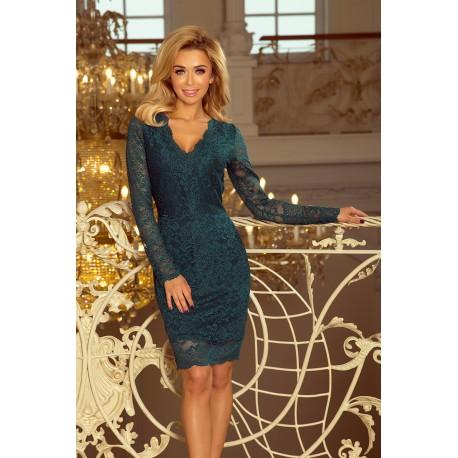 Luxusní dámské krajkové šaty Olivia Green