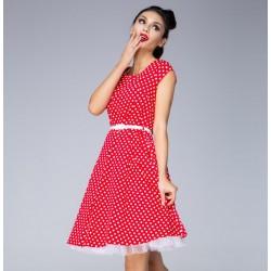 Červené šaty Laura Dot