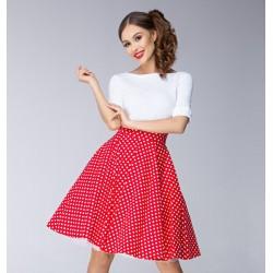 Červená sukně Gotta dots